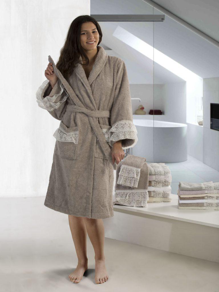 Nora accappatoio asciugamani